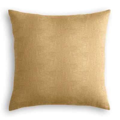 """Loom Decor Throw Pillow Color: Gold, Size: 18"""" x 18"""" - Perigold"""