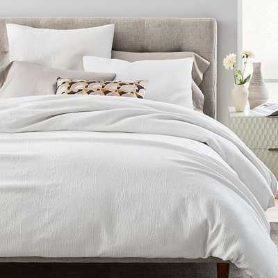 Tencel Cotton Matelasse Duvet & Standard Sham, Stone White, Full/Queen - West Elm