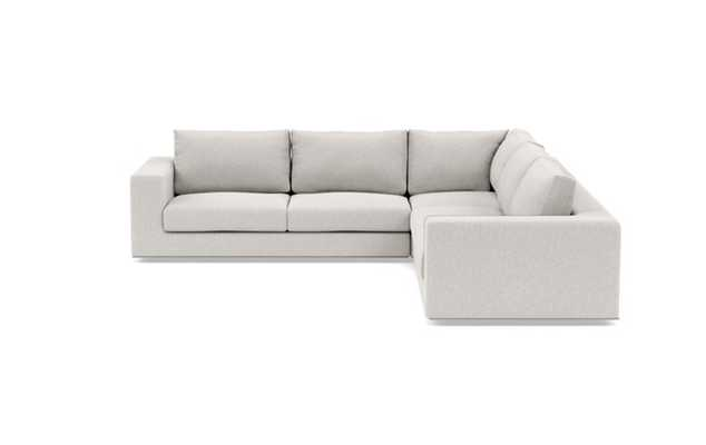 Walters Corner Sectional with Chalk Fabric and down alternative cushions - Interior Define