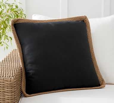 "Trim Outdoor Pillow, 20 x 20"", Black - Pottery Barn"