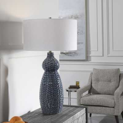 Holloway Cobalt Blue Table Lamp - Hudsonhill Foundry