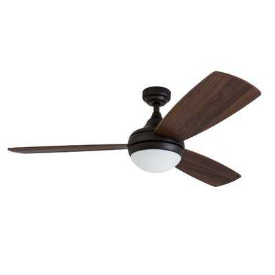 "52"" Alyce 3 Blade Ceiling Fan with Remote Control - AllModern"