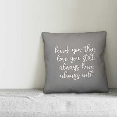 Hippocrates Love Never Gives Up Throw Pillow - Wayfair