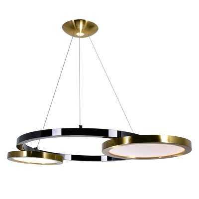 Staudt 2 - Light Unique / Statement Wagon Wheel LED Chandelier - Wayfair