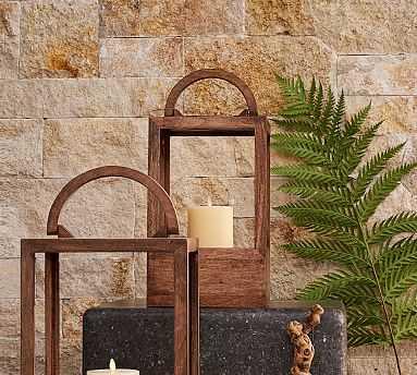 Decker Mango Wood Lantern, Small - Pottery Barn