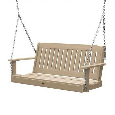 Amelia Porch Swing in Tuscan Taupe - Birch Lane