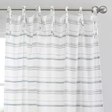 "Roxy Stripe Sheer Curtain Panel, 96"", Multi (Single Panel) - Pottery Barn Teen"