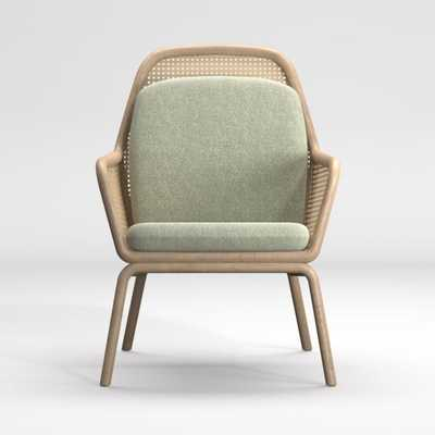 Verne Rattan Chair with Cushion - Crate and Barrel