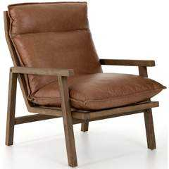 Orion Leather Chair, Chaps Saddle - High Fashion Home