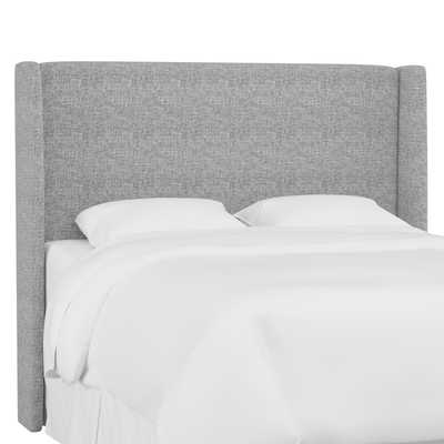 Queen Lawrence Wingback Headboard in Zuma Pumice - Third & Vine