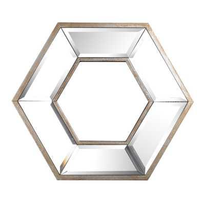 A & B Home Hexagon Silver Wall Art - Home Depot