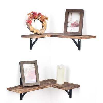 Fabii 2 Piece Novelty Corner Shelf - Wayfair
