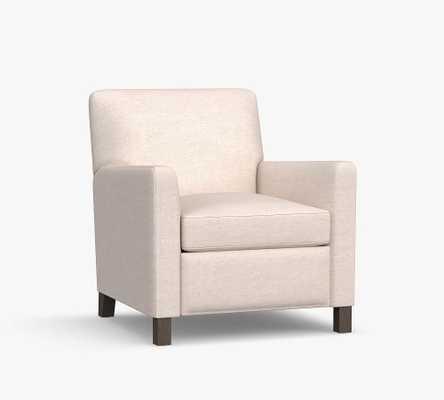 Howard Upholstered Recliner, Polyester Wrapped Cushions, Basketweave Slub Ivory - Pottery Barn
