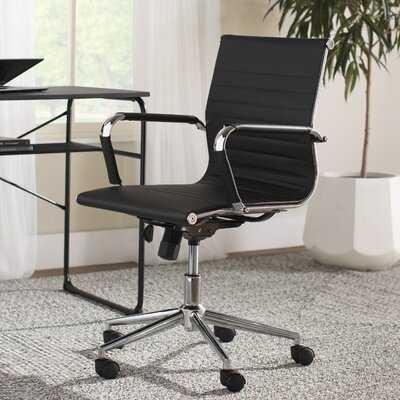 Plevna Ergonomic Leather Conference Chair - Wayfair