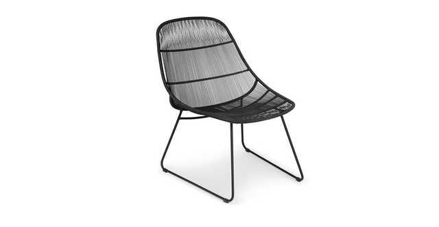 Selka Black Lounge Chair - Article