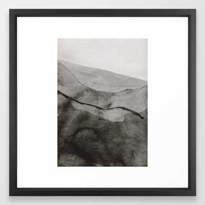 Ink Layers Framed Art Print by Georgiana Paraschiv - Vector Black - MEDIUM (Gallery)-22x22 - Society6