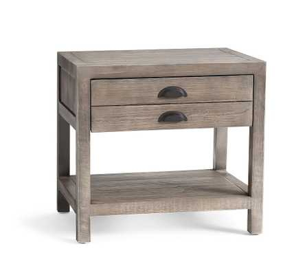 """Architect's 26"""" Reclaimed Wood End Table with Drawer, Shelter Pine - Pottery Barn"""
