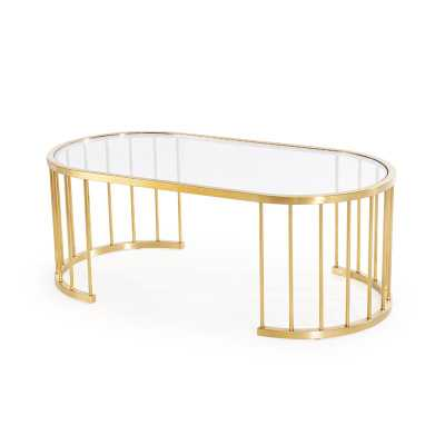 Blink Home Athens Coffee Table Color: Gold - Perigold