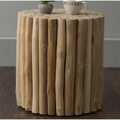 Naya Teak Stool - Wayfair