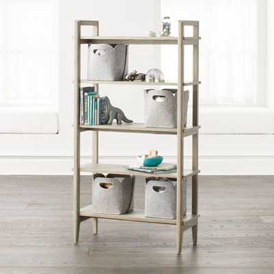 Wrightwood Tall Grey Stain Bookcase - Crate and Barrel