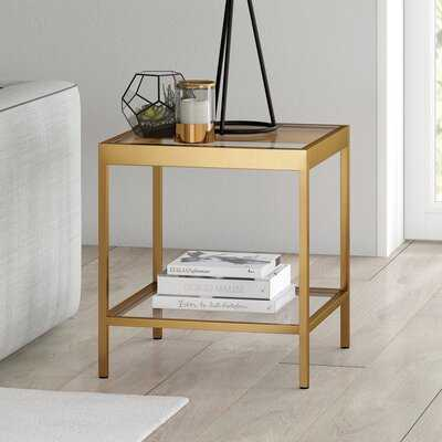 Southall Glass Top End Table - Wayfair