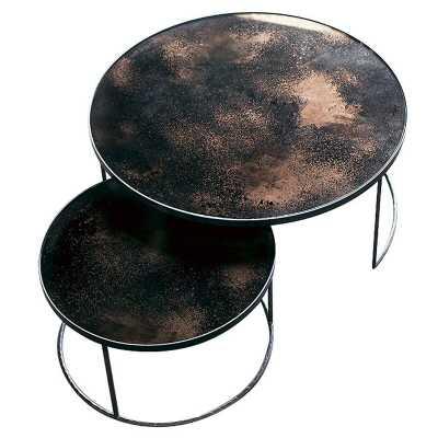 Notre Monde Frame 2 Nesting Tables Table Top Color: Bronze - Perigold