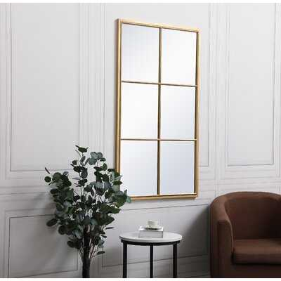 Menton Metal Modern and Contemporary Beveled Accent Mirror - Wayfair