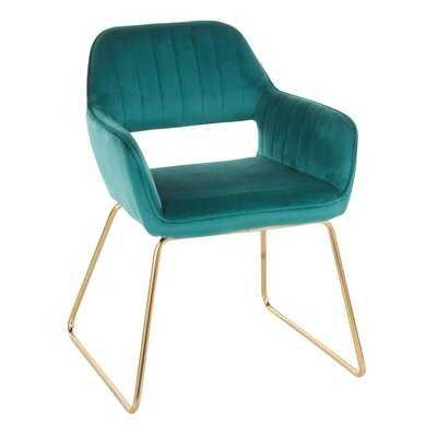 Aliceville Velvet Upholstered Dining Chair - Wayfair