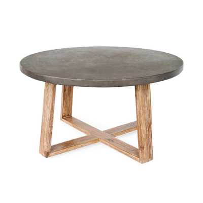 Leisure Made Athens Round Cement Outdoor Coffee Table - Home Depot