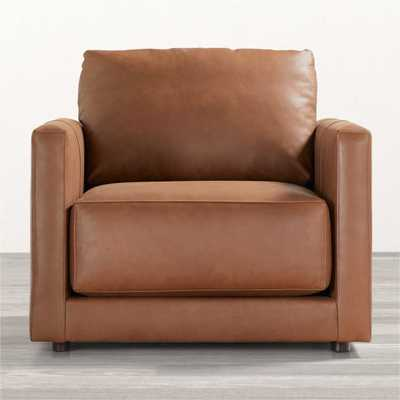 Gather Petite Leather Chair - Crate and Barrel