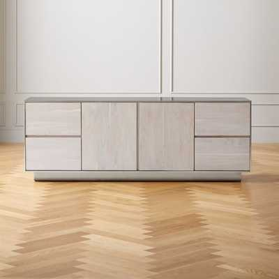 Jett Wood and Metal Media Credenza - CB2