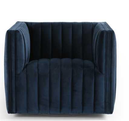 Roz Swivel Chair, Sapphire Navy - Lulu and Georgia