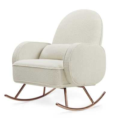 Nursery works Compass Rocking Glider Upholstery: White Boucle - Perigold