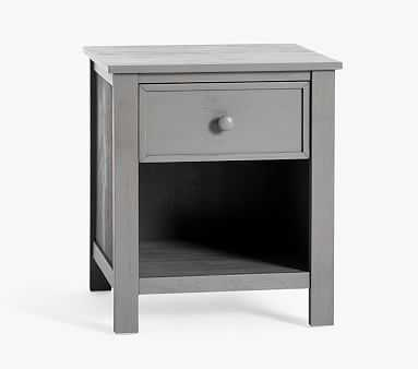 Austen Simple Nightstand, Antiqued Charcoal, In-Home Delivery - Pottery Barn Kids