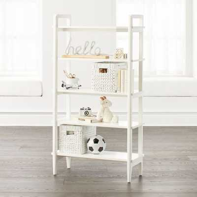 Wrightwood Tall White Bookcase - Crate and Barrel