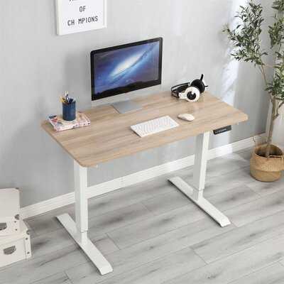 Height Adjustable Standing Desk with Built in Outlets - Wayfair