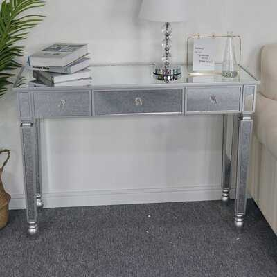 Three Drawers Mirror Table Dressing Table Console Table - Wayfair
