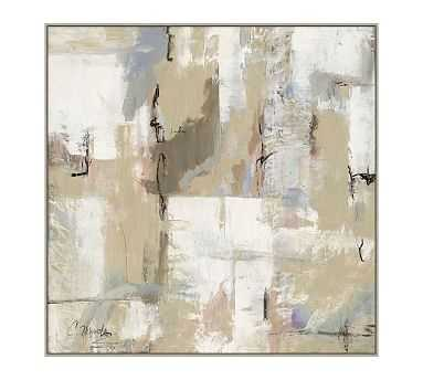"Neutral Sights Framed Canvas, Oversized, 51"" x 51"" - Pottery Barn"