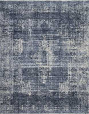 "Magnolia Home by Joanna Gaines KENNEDY KEN-01 DENIM / DENIM 5'-0"" x 7'-9"" - Magnolia Home by Joana Gaines Crafted by Loloi Rugs"