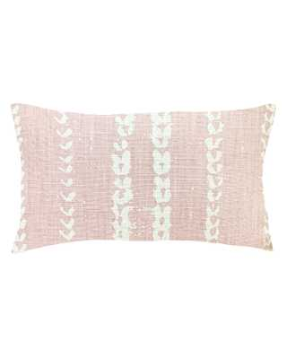 vines lumbar pillow in blush - cover only - PillowPia