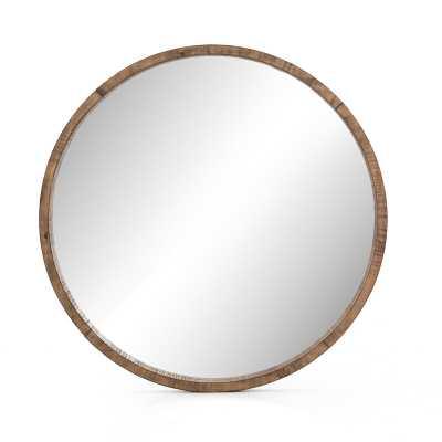 Four Hands Creline Harlan Round Rustic Dresser Mirror - Perigold