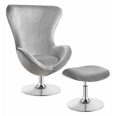 Buzbee Swivel Lounge Chair and Ottoman - Wayfair