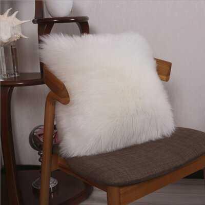 Wensley Faux Fur Throw Pillow Cover - Wayfair