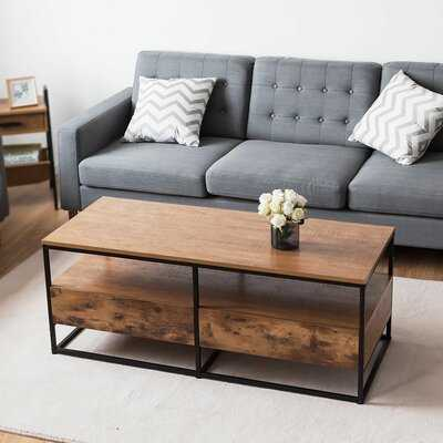 Crippen Sled Coffee Table with Storage - Wayfair