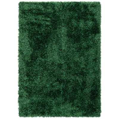 Well Woven Kuki Chie Glam Solid Textured Ultra-Soft Green 7 ft. 10 in. x 9 ft. 10 in. 2-Tone Shag Area Rug - Home Depot