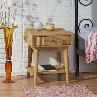 1 - Drawer Nightstand in Natural - Wayfair
