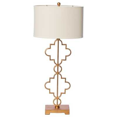 Moroccan 1-light Antique Gold Leaf Table Lamp - Overstock