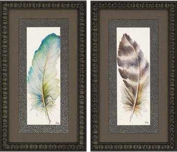 PLUMES WALL ART - Framed - Home Decorators