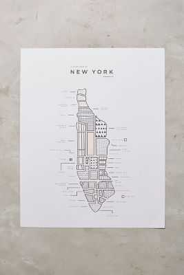 Neighborhood Patterns City Map, New York - Anthropologie