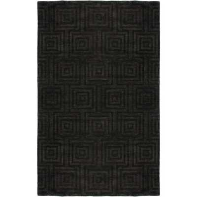 Rizzy Home Uptown Collection Handmade Solid Wool Grey Rug (10' x 14') - Overstock